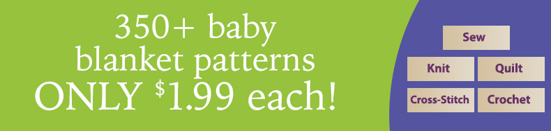 350* baby blanket patterns | ONLY $1.99 each!