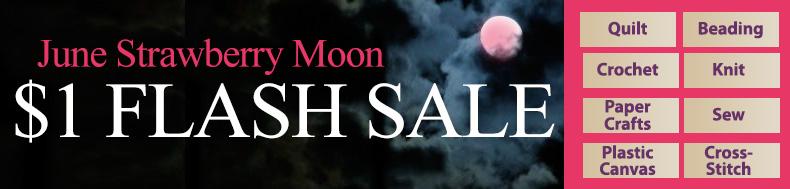 June Strawberry Moon | $1 FLASH SALE
