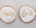 Gold-Leaf Wooden Coasters
