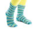 Self- Striping Cuff-Down Socks