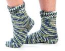 Self- Striping Toe-Up Socks