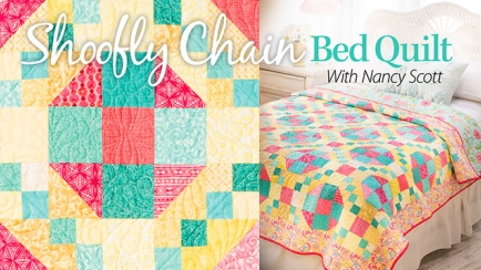 Shoofly Chain Bed Quilt