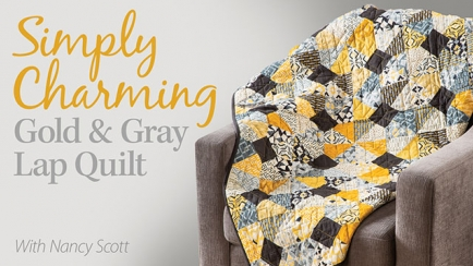 Simply Charming Gold & Gray Lap Quilt
