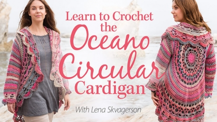 Learn to Crochet the Oceano Circular Cardigan