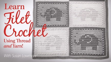 Learn Filet Crochet Using Thread and Yarn