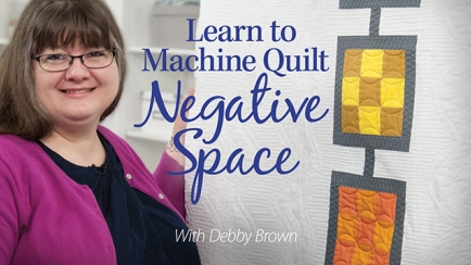 Learn to Machine Quilt Negative Space