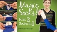 Magic Socks! Knit 2 Socks in 1