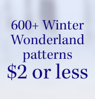 $2 Winter Patterns - Let It Snow