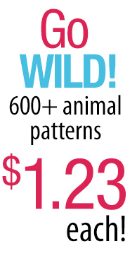 Pet day! $1.23 animal patterns