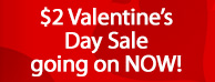 $2 Valentine's Day Sale