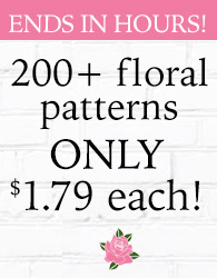 Floral Patterns $1.79 ENDS IN HOURS!