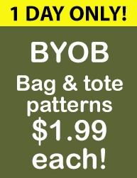 BYOB Bag & Tote patterns $1.99 1 DAY ONLY!