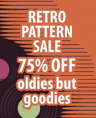 Retro Pattern Sale 75% off Oldies but Goodies