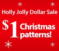 Holly Jolly Dollar Sale $1 Christmas patterns!