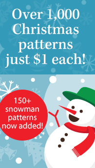 $1 Christmas patterns + 150+ snowman patterns added