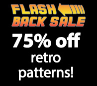 Flash Back Sale 75% off retro patterns!