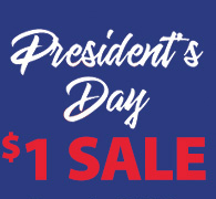 President's Day $1 SALE
