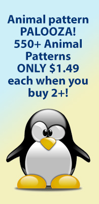 Animal pattern PALOOZA! 550+ Animal Patterns ONLY $1.49 each when you buy 2+!`
