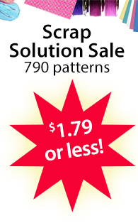 Scrap Solution Sale 790 patterns $1.79 or less!