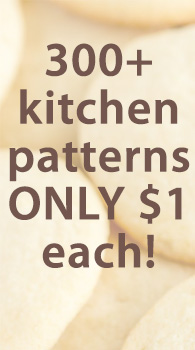 300+ kitchen patterns ONLY $1 each! (sugar cookies)