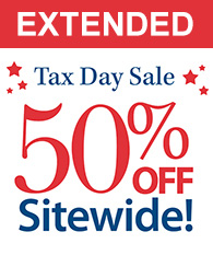 EXTENDED Tax Day Sale 50% off Sitewide!