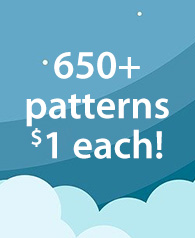 650+ patterns $1 each!