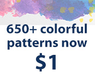 650+ colorful patterns now $1
