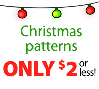 Christmas patterns ONLY $2 or less!