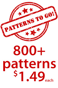 Patterns To Go 800+ patterns $1.49 each