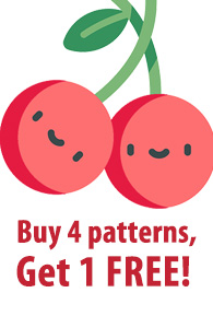 Buy 4 patterns, Get 1 FREE!