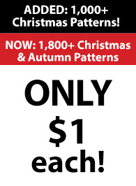 1,800+ Christmas & Autumn Patterns ONLY $1 each!