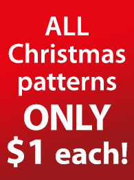 ALL Christmas patterns ONLY $1 each!