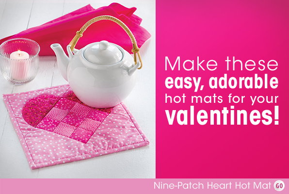 Nine-Patch Heart Hot Pad