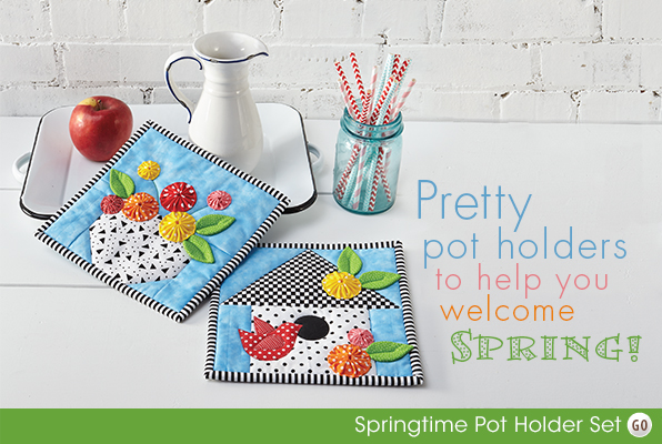 Pretty pot holders to help you welcome SPRING!