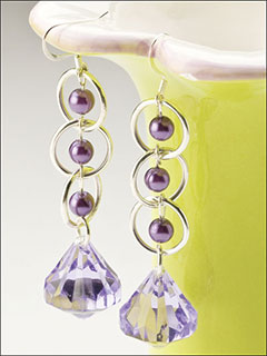 Purple Passion Drop Earrings