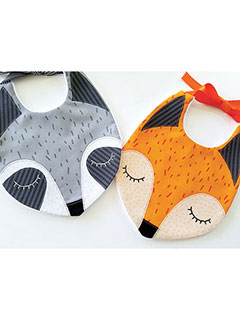 Fox & Raccoon Bibs