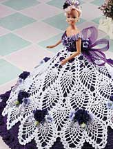 Purple Pineapple Fashion Doll Gown