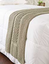 Diamonds & Cables Bed Runner