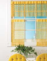 Nina's Cafe Curtains & Valance
