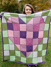 Patchwork Heart Baby Blanket