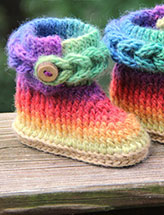 Knit-Look Braid Stitch Boots - Baby