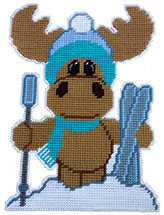 Moose & Skis Wall Hanging