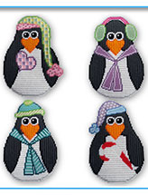Winter Penguin Wall Hangings