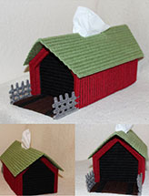 Covered Bridge Tissue Box Cover