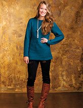 Textured Teal Tunic