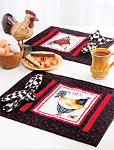 French Hens Place Mats With Napkins