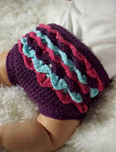 Crocodile Stitch Diaper Cover
