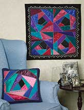 Crazy-Quilted Wall Quilt & Pillow
