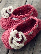 Ruffle Flower Baby Shoes