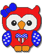 Patriotic Girl Owl